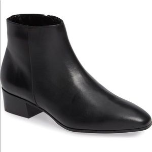 New AQUATALIA Black Leather Ankle Boot Booties 7.5
